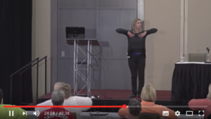 Edely Wallace demonstrates Lymphatic Yoga