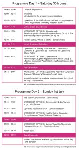 timetable lipoedema uk event 2018